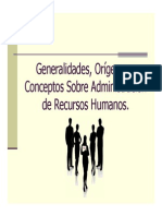 (Origenes de La Administracion de Recursos Humanos