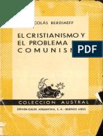 El Cristianismo y el problema del Comunismo - Berdiaev, Nikolay (Espasa-Calpe, Buenos Aires, 9na Ed., 1968)