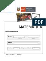 Prueba ECE Matemática SETIEMBRE 2015