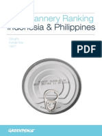 Canned Tuna Ranking – Release Date Version 21st Sep 2015 - Greenpeace