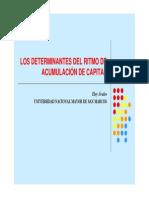 12. Los Determinantes Del Ritmo de Acumulación de Capital