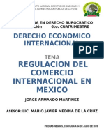 Regulacion Del Comercio a Nivel Internacional en Mexico INESAP