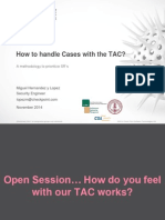 Hands-On Mexico Day-5 - TAC Procedures & Followship