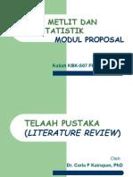 Kuliah KBK_Modul Proposal_Telaah Pustaka_S07-Juli 2013_Utk Mah