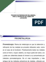 Proceso de Preparación Del Mineral Para La Obtención de Cobre Por Lixiviacion