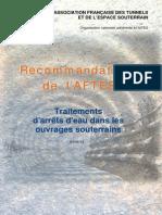 GT9R1F2 Traitements d'Arrêts d'Eau Dans Les Ouvrages Souterrains