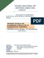 Ccoyccosi Chura Abel - Informe de Plazas