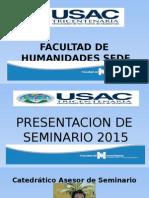 Presentación de Seminario Sabado 2015