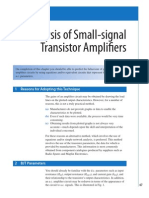 Small-signal Transistor Amplifiers