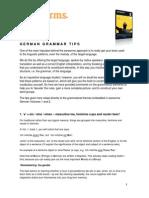 German Grammar Tips