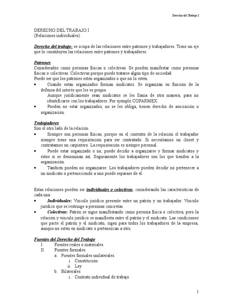 Apuntes- derecho laboral