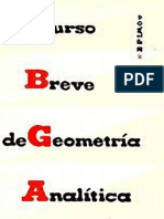 Curso Breve de Geometria Analitica N. Efimov Editorial Mir