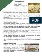 Medios de Transporte en El Antiguo Egipto Documento Blog
