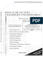 Nogueira 2004 Manual de Lectura y Escritura Universitarias - Introduccion Caps. 2 5 6 y 7