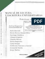 Nogueira 2004 Manual de Lectura y Escritura Universitarias - Introduccion Caps. 2 5 6 y 7