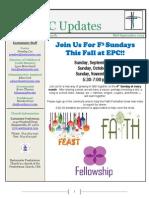 September 15 2015 Newsletter