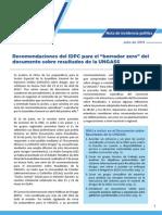 IDPC Advocacy Note Recommendations on UNGASS Zero Draft SPANISH
