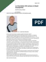 Harmful Effect of Socialism XXI Century in Brazil (Books)