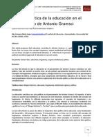 Función política de la educación en el pensamiento de Antonio Gramsci