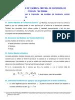 Medidas de Tendencia Central, De Dispersión, De Posición y De Forma