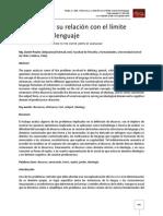 El discurso y su relación con el límite exterior del lenguaje