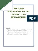 factores fisicoquimicos del fuego