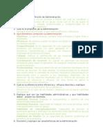 Cuestionario de Teoría Administrativa