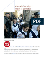 Israel's Assaults on Palestinian Education Amount to Genocide