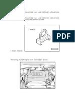 Removiendo e Instalando Tapaválvulas Banco 2 (Derecho) de Motores 3.2 L, 6 Cilindros, 4 Val. (AUK, BKH) de USA (Audi A4 3.2; 2.007)