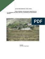 Estudio de Pre Inversion Forestacion Comunidad Campesina Santa Cruz