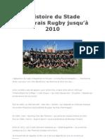 L'histoire du SB rugby du début à 2010