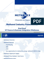 Brad Boyd presentation of methanol development