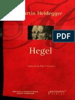 Hegel Por Martin Heidegger