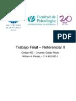 Trabajo final - Referencial II