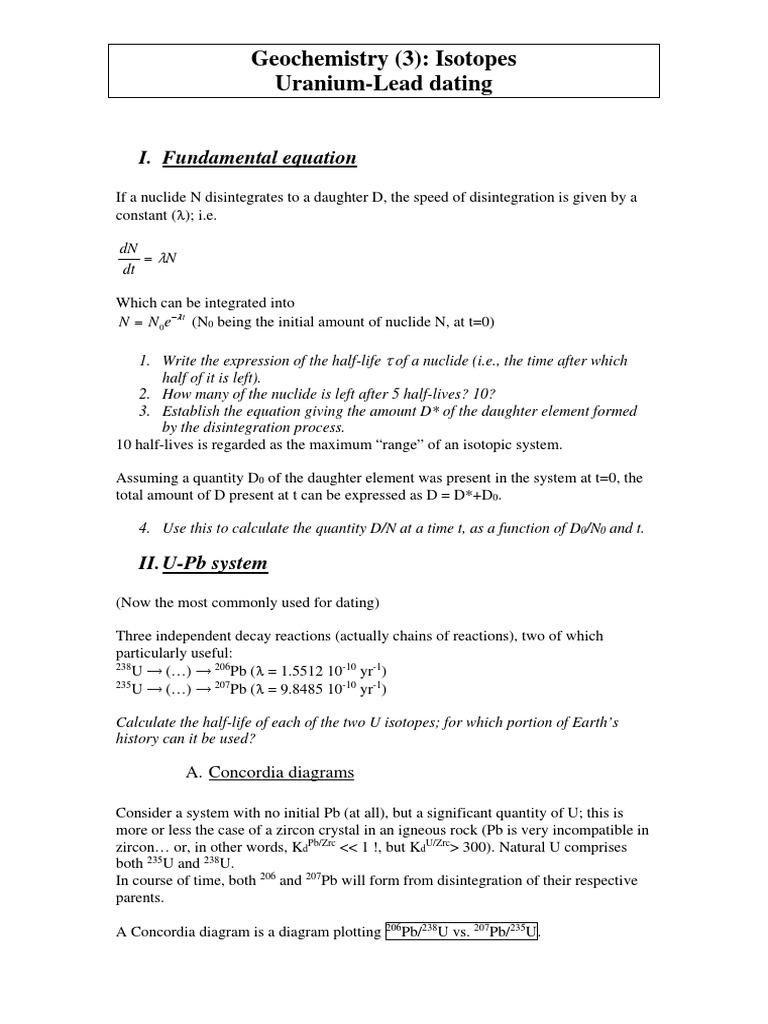 Concordia diagram dating