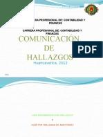 Comunicacion de Hallazgos
