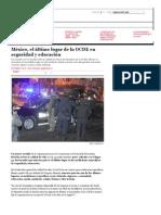 México, El Último Lugar de La OCDE en Seguridad y Educación _ Animal Político