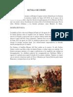 Batalla de Junin y Ayacucho