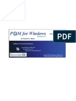 POM-QM for Windows Manual