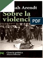 Arendt Hannah_Sobre La Violencia