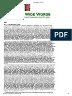 World Wide Words_ Index