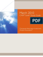 Chartered Alternative Investment Analyst Association Level 1 Study Guide March 2010