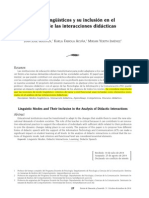 Irigoyen, Acuña, Jiménez (2014). Modos Lingüísticos y Su Inclusión en El Análisis de Las Interacciones Didácticas