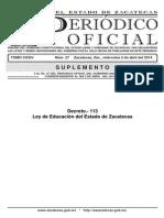 Ley Estatal de Educación Diario Oficial