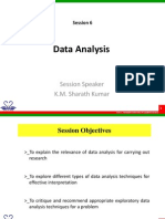 Session - 6 Statistics and Data Analysis