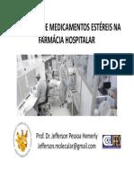 Aula_Farmácia Hospitalar_281013_Producao de Medicamentos Estereis