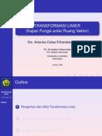 Slide Tranformasi Linier