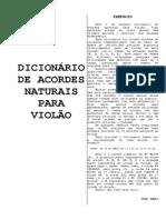 Dicionário de Acordes Naturais Para Violão