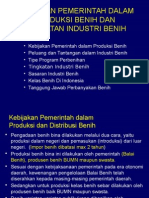 Tm02 Dan 03 Kebijakan Produksi Dan Tingkatan Industri Benih