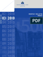 European Central Bank Monthly Bulletin March 2010